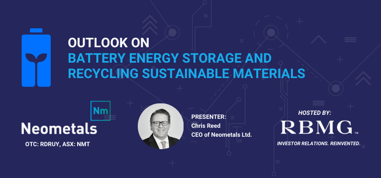 Webinar – Outlook on Battery Energy Storage & Recycling Sustainable Materials